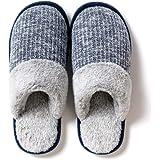 CAGAYA Pantofole da donna invernali, in memory foam, con imbottitura corta e suola antiscivolo, da uomo e da donna