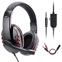 Gaming Kopfhörer für PS4 Xbox One, Gezimetie PS4 Headset mit Mikrofon,3.5mm Surround Sound Over-Ear-Kopfhörer für PS4…