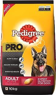 Pedigree PRO Expert Nutrition Active Adult Large Breed Dogs (18 Months Onwards) Dry Dog Food 10kg Pack