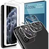 TOCOL 4 Piezas Protector de Pantalla para iPhone 11 Pro MAX 6.5 Pulgadas, 2 Piezas Cristal Templado y 2 Piezas Protector de L