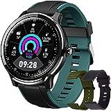 Smartwatch, Reloj Inteligente Hombre, Impermeable IP68 Pulsera Actividad Monitor de Sueño Calorías Podómetro Pulsómetro Notif
