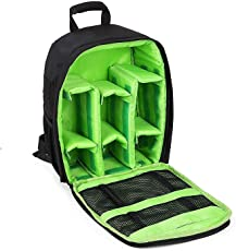 House of Quirk Waterproof Fabric Anyprize SLR Camera, Lens, Tripod and Camera Accessories Backpack with Rain Cover Protector(Green)