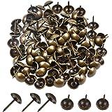Gestoffeerde nagels messing, 100 stuks vintage meubels nagels antiek decor nagels brons bekleding nagels siernagels thumb tac