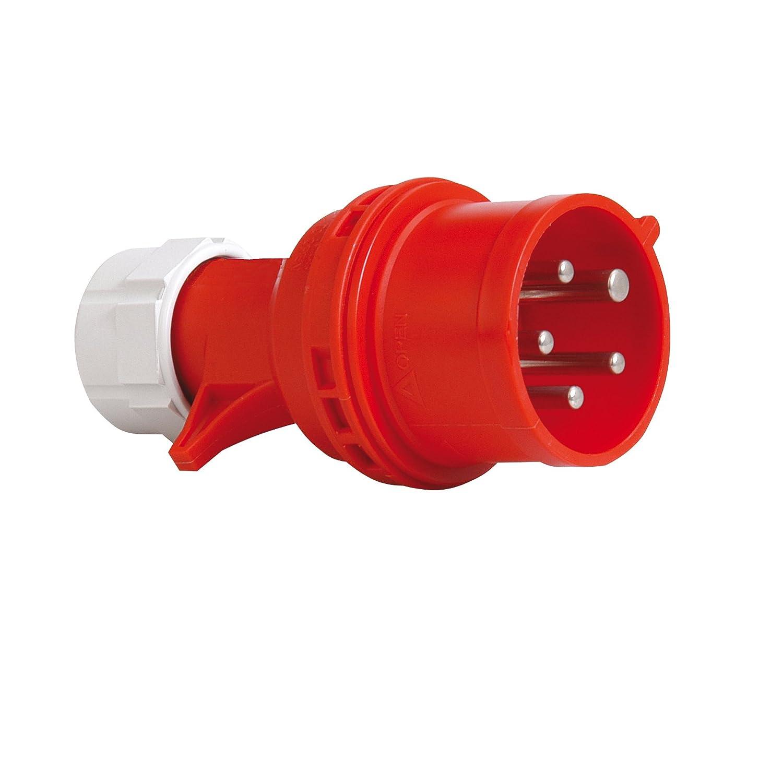 Schön PCE 40829L CEE-Stecker mit Phasenwender, 16A, rot, lose: Amazon.de  IR86