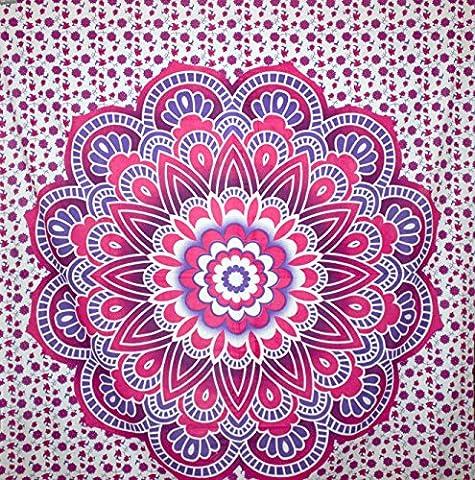 Kesrie Wall hanging tapestry large mandala lotus print purple (Happy Tree Friends Christmas Lights)