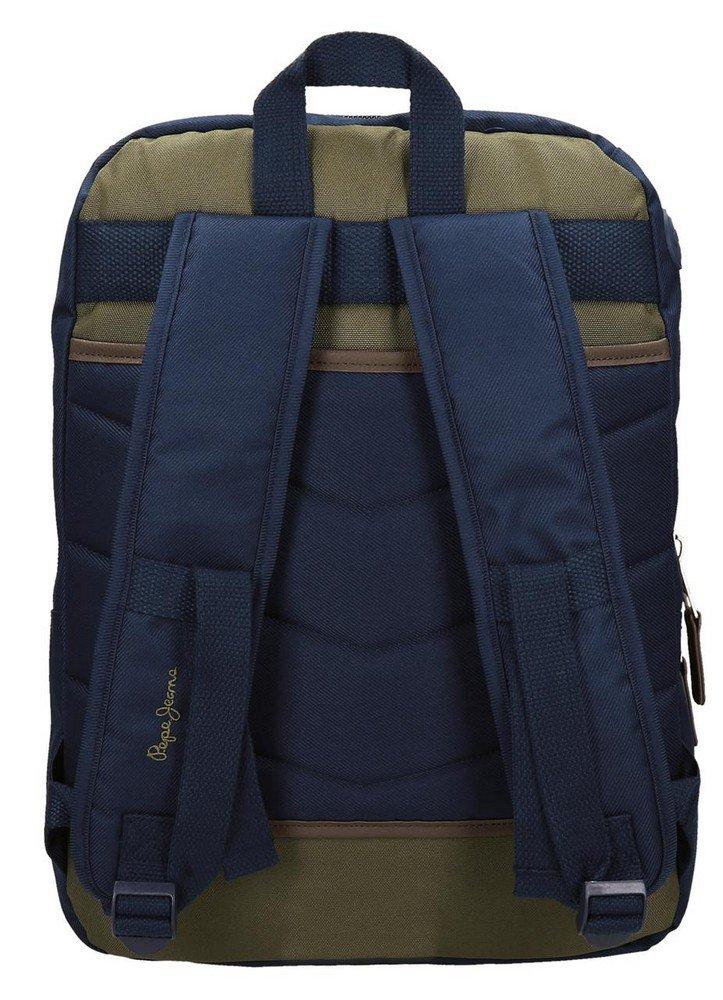 71kN3%2BDqnnL - Pepe Jeans Alber Mochila Escolar, 42 cm, 19.44 litros, Multicolor