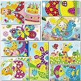 Lizipai Kit Artisanal de mosaïques collantes pour Enfants, 10 Images séparées d'autocollant de mosaïque à la Main Art Enfants