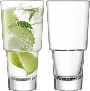 LSA International MY02 Mixologist Cocktail Highball 400ml Clear x 2