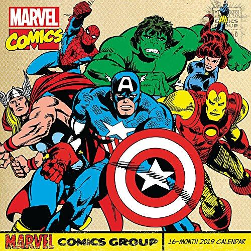 Retro Marvel Comics Wall Calendar (2019)