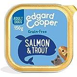 Edgard & Cooper Comida Humeda Perros Adultos Natural Sin Cereales, Latas 11x150g Salmon y Trucha Frescos, Fácil de digerir, A