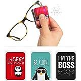 POLYCLEAN 3X PocketCleaner® Brillenreiniger – Praktisches Brillenputztuch und Display Reinigungstuch – Microfasertuch…