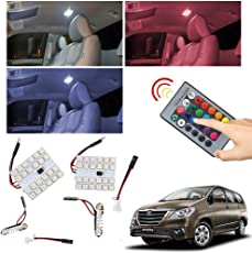 VheeloCityin Remote Changing Colour 24 LED SMD Car Roof Dome Light for Toyota Innova