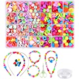 Mumoo Bear Beads Set for Jewelry Making Kids Adults Children Craft DIY Necklace Bracelets Letter Alphabet Colorful Acrylic Cr