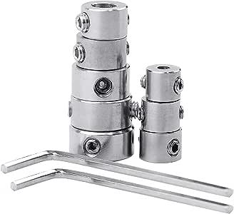 YKEZHU 8 tlg Tiefenanschlagringe Set Stellungsregler Ring Positionierer HSS-L...
