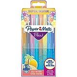 Paper Mate Flair Feutres de Coloriage | pointe moyenne (0,7 mm) | Couleurs Tropical | Lot de 16