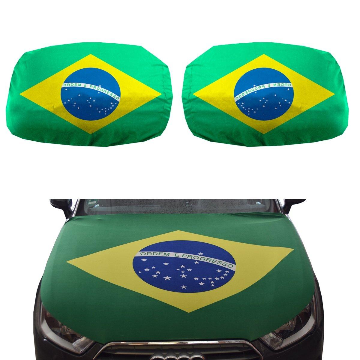 Sonia Originelli Fan-Paket-15 Auto WM Länder Fußball Motorhaube Außenspiegel Flagge