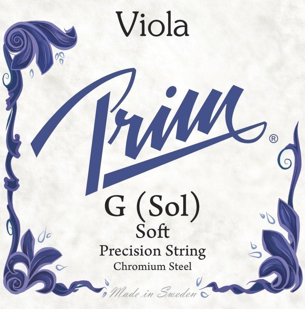 Prim corde per viola Steel Strings 'Orchestra' 'Sol acciaio-cromo;'