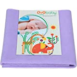 OYO Baby Care Waterproof Bed Protector Baby Care Dry Sheet, Medium, Violet (100 cm x 70 cm)