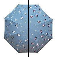 The Purple Tree Cute Color Change Umbrella with Flamingo Pattern - 1 pc, Designer 3 fold Umbrella Windproof, with UV…