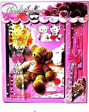 Kesha Spree Designer Diary and Pen Set Gift for Kids (Pink)