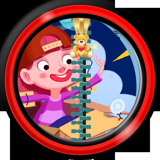 Zipper Lock Screen für Kinder