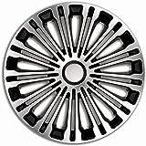 Satz Radzierblenden Lemans 17 Zoll Schwarz Silber Auto