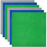Lekebaby Lot de 6 Plaque de Base Compatible avec Les Plus Grandes Marques, 25.5x25.5cm, Mutlicolore
