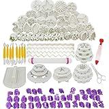 Abimars Lot de 110 Outils de Décoration de Gâteau, Ustensile Patisserie Professionnelle DIY Fondant Gâteau Décoration Cutters