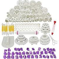 Abimars Lot de 110 Outils de Décoration de Gâteau, Ustensile Patisserie Professionnelle DIY Fondant Gâteau Décoration…