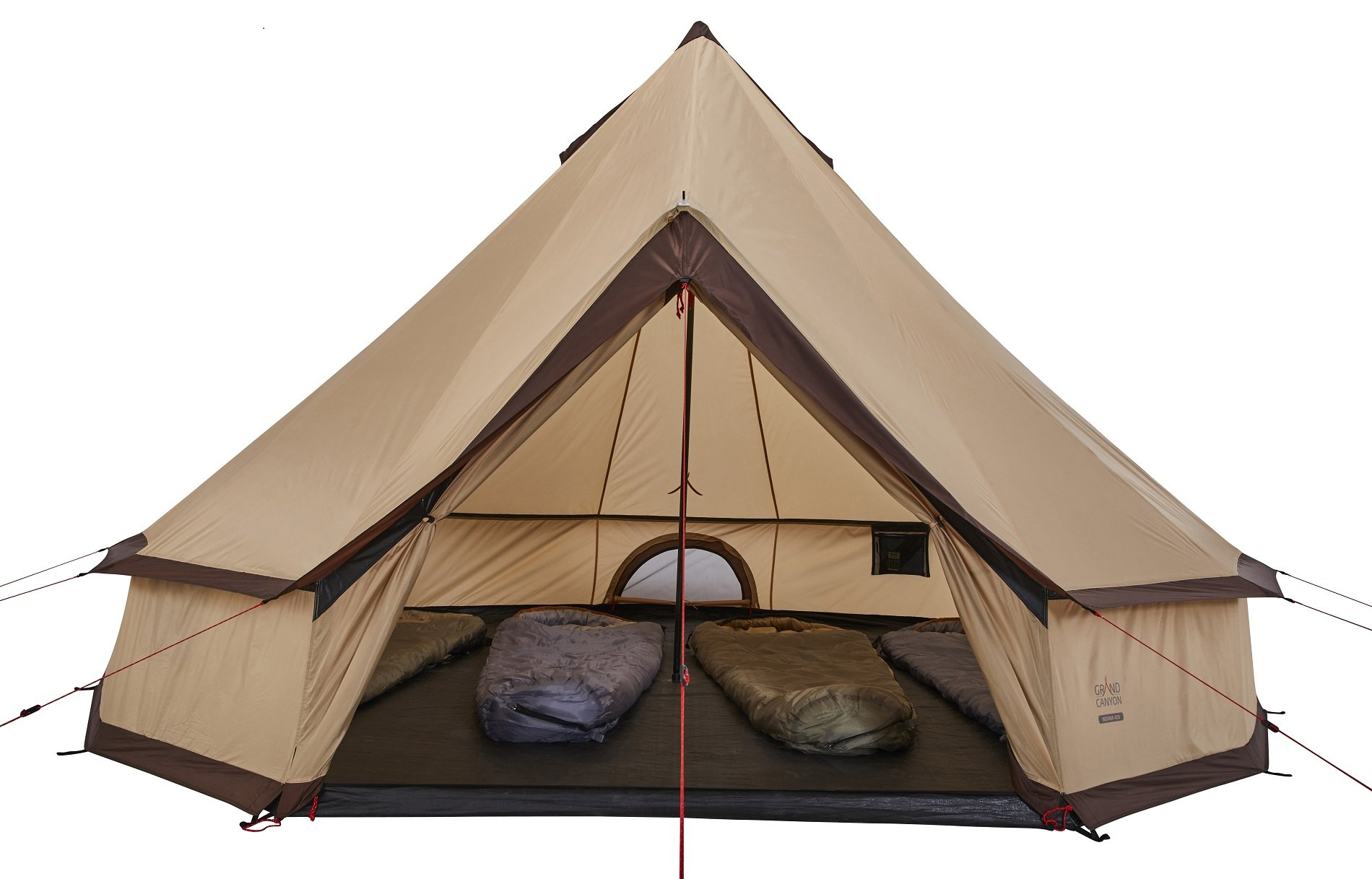 GRAND CANYON Indiana - round tent ( 8-person tent), beige, 602020 5