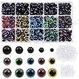 NATUCE 310PCS Coloridos Vistoso Ojos de Seguridad Ojos de Plastic, 6-12mm Ojos Seguridad de Plástico, Ojo de Seguridad, Visto