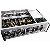 DBG Alta Eficiencia 8 Piezas P104 Tarjeta Gráfica GPU Miner 225MH / S Ethereum ZCASH Bitcoin Mining Rig