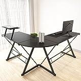 Maxzzz Bureau d'angle en Forme de L - Solide - avec Structure et Table en Forme de L - avec Pieds réglables - 147 x 126 x 73