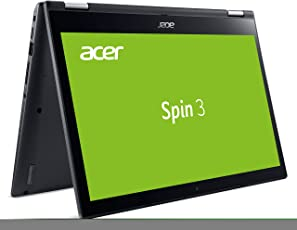 Acer Spin 3 SP314-51-P0WG 35,6 cm (14 Zoll Full HD IPS Multi-Touch) Convertible Laptop (Intel Pentium 4415U, 4GB RAM, 128GB SSD, Intel HD, Win 10) Grau