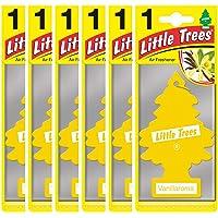 Little Trees Air Freshener Tree MTZ01 Vanillaroma Fragrance For Car Home Boat Caravan - Six Pack
