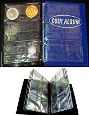 GOLD MINT Artificial Leather Premier Mini Pocket Coin Penny Book Album with 60 Holders (Random, GOLD MINT 63) - Set of 2