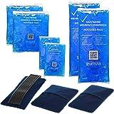 Compresse Froid/Chaud 3 tailles Compresse multiple Compresse Réutilisable Micro-ondes adapté 2x Petit 2x Moyen 2x Grand chaqu