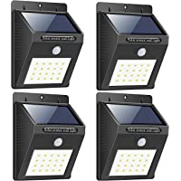 Bigsavings. Light-Solar Powered Cordless Outdoor Led Motion Sensor Path and Security Light - Pack of 4, Multicolor…
