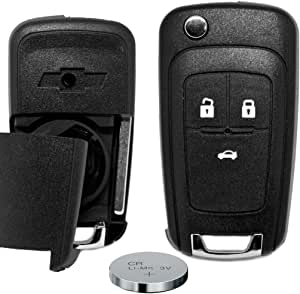 Klapp Schlüssel Gehäuse Funkschlüssel Fernbedienung 3 Tasten Autoschlüssel Rohling Batterie Für Chevrolet