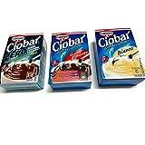 Tris Ciobar - Ciobar Zero 76 g + Ciobar Fondente 115 g + Ciobar Bianco 105 g