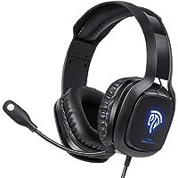 EasySMX Cuffie Gaming per PC,Cuffie da Gioco per PS4 con Paraorecchie, Suono Stereo Audio, Microfono Regolabile…