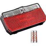 nean Fietsachterlicht met reflector en StVZO-goedkeuring incl. batterijen, reflectoren met reflector, led-achterlicht, werkt