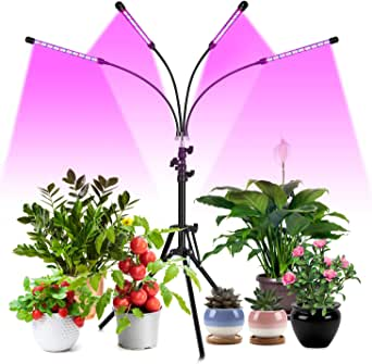 80W Tri Head Timing 80 LED 9 Dimmable Levels Indoor Plant Grow Light