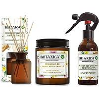 AIR WICK Botanica Coffret Diffuseur de Bâtonnets aux Huiles Essentielles Parfum Vétiver Spray Bougie Parfumée Magnolia