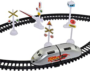 SRajK High Speed Metro Train with Track & Signal Accessories Battery Operated