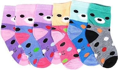 Krystle Kid's Cotton Socks (KIDS-2-SOCKS-PO6-1-2YRS, Multicolour)(1-2Yrs) - Pack Of 6