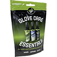 gloveglu Men's Goalkeeping Glove Care Essentials Pack, Black, One Size
