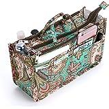 IGNPION, organizer da borsetta con 13 tasche espandibili, chiusura con cerniera, organizer per pannolini con manico, 29 x 16