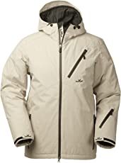 Jeff Green Herren Atmungsaktive Wasserdichte Winter Ski Jacke, Helsinki 12.000mm Wassersäule und Abnehmbare Kapuze