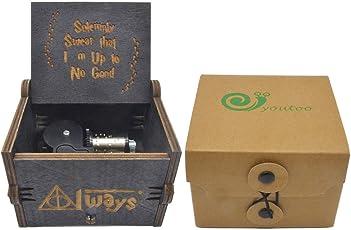 Youtoo Retro Holz Spieluhr Hand klassischen Handkurbel Musik Box für Geschenke